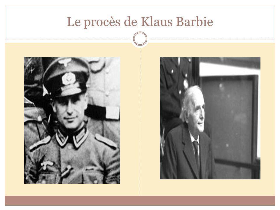 Le procès de Klaus Barbie