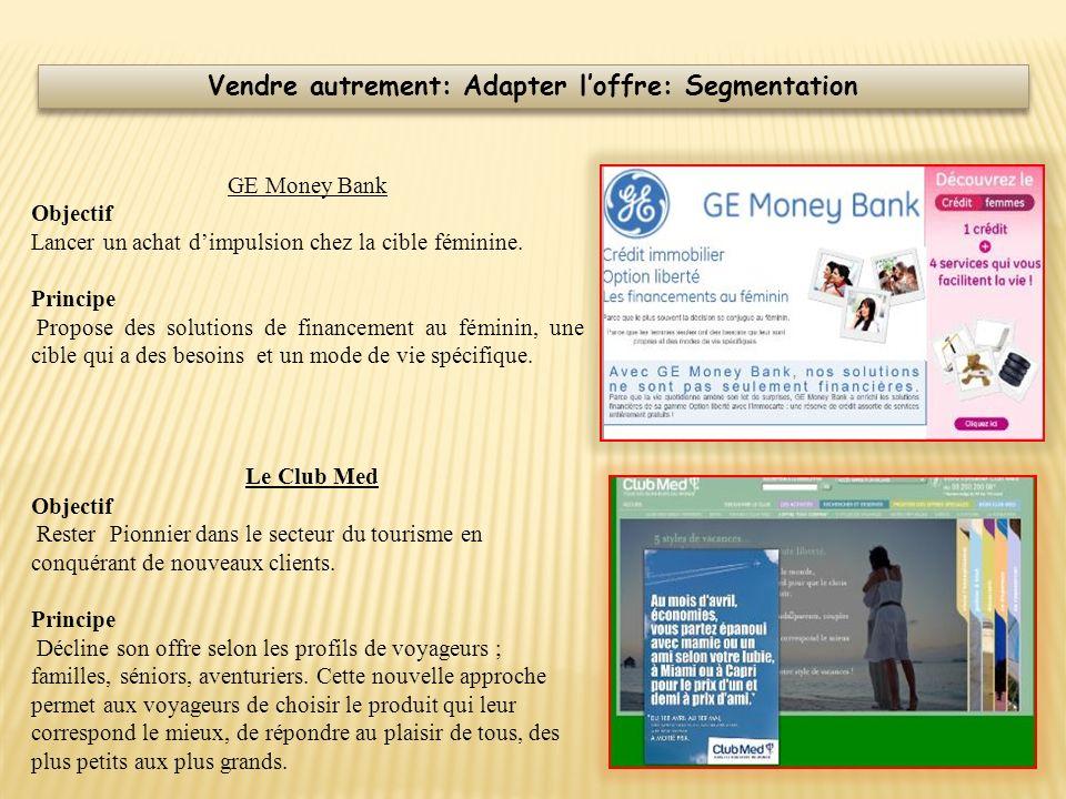GE Money Bank Objectif Lancer un achat dimpulsion chez la cible féminine. Principe Propose des solutions de financement au féminin, une cible qui a de