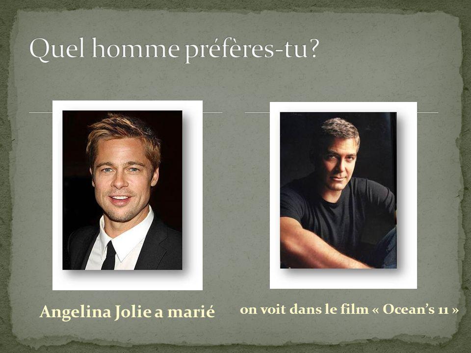 Angelina Jolie a marié on voit dans le film « Oceans 11 »