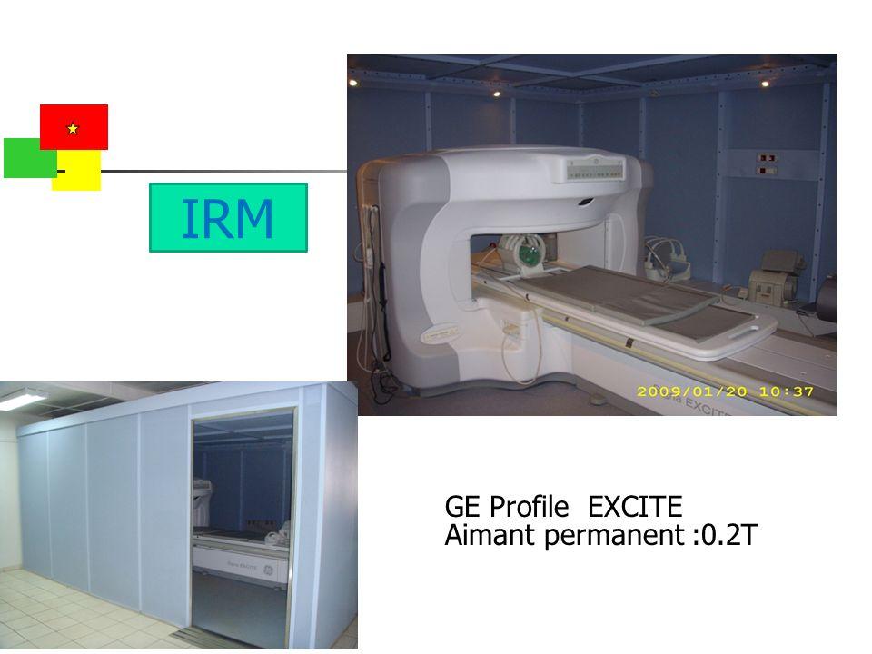 GE Profile EXCITE Aimant permanent :0.2T IRM