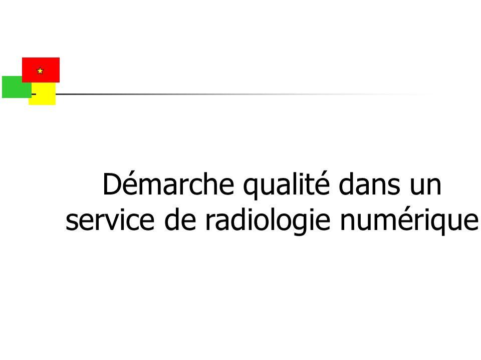 Démarche qualité dans un service de radiologie numérique
