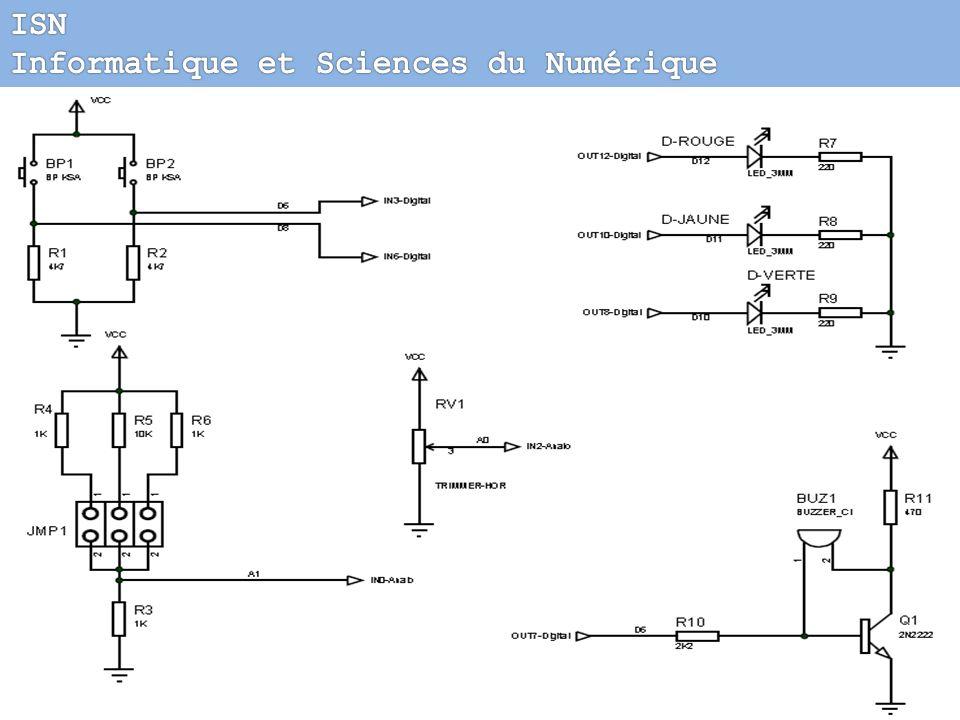 Initiation à la pédagogie de projet 6- Activités pratiques Piloter une carte par la liaison série RS232 Carte de test des entrées/sorties 3 LEDs 2 bou