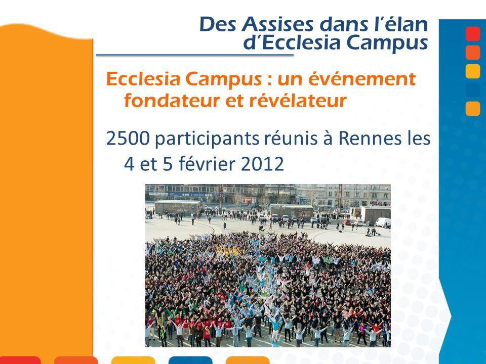 Ecclesia Campus : un événement fondateur et révélateur Des Assises dans lélan dEcclesia Campus 2500 participants réunis à Rennes les 4 et 5 février 20