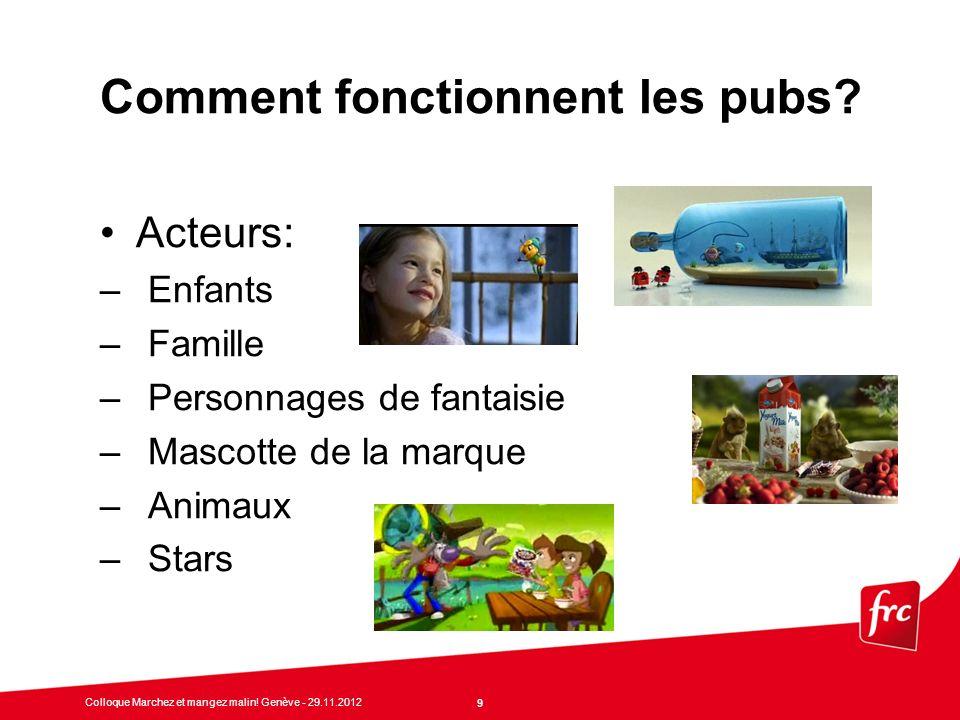 20 Colloque Marchez et mangez malin.Genève - 29.11.2012 Comment réagir.
