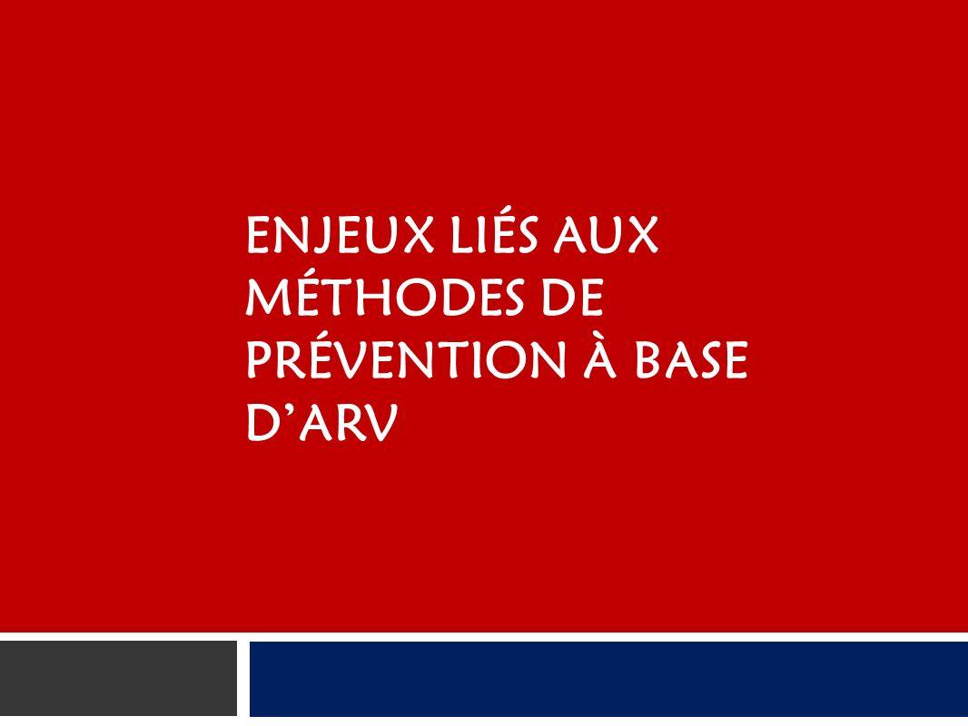 ENJEUX LIÉS AUX MÉTHODES DE PRÉVENTION À BASE DARV