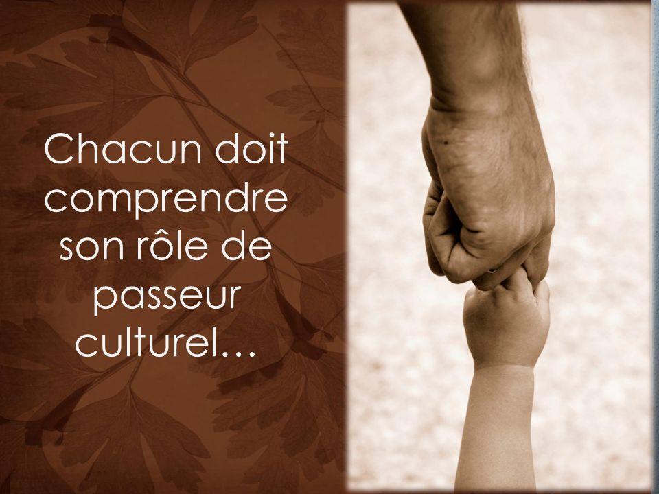 Chacun doit comprendre son rôle de passeur culturel…