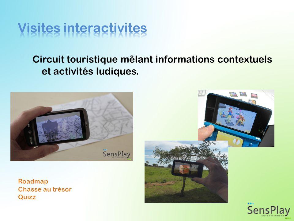 Circuit touristique mêlant informations contextuels et activités ludiques.
