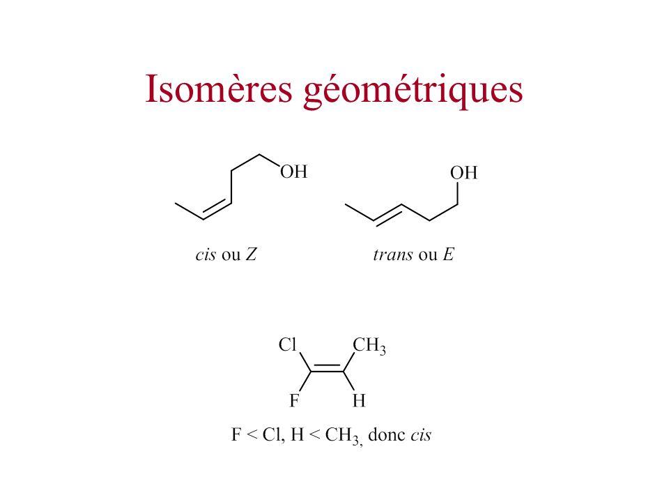 Isomères géométriques