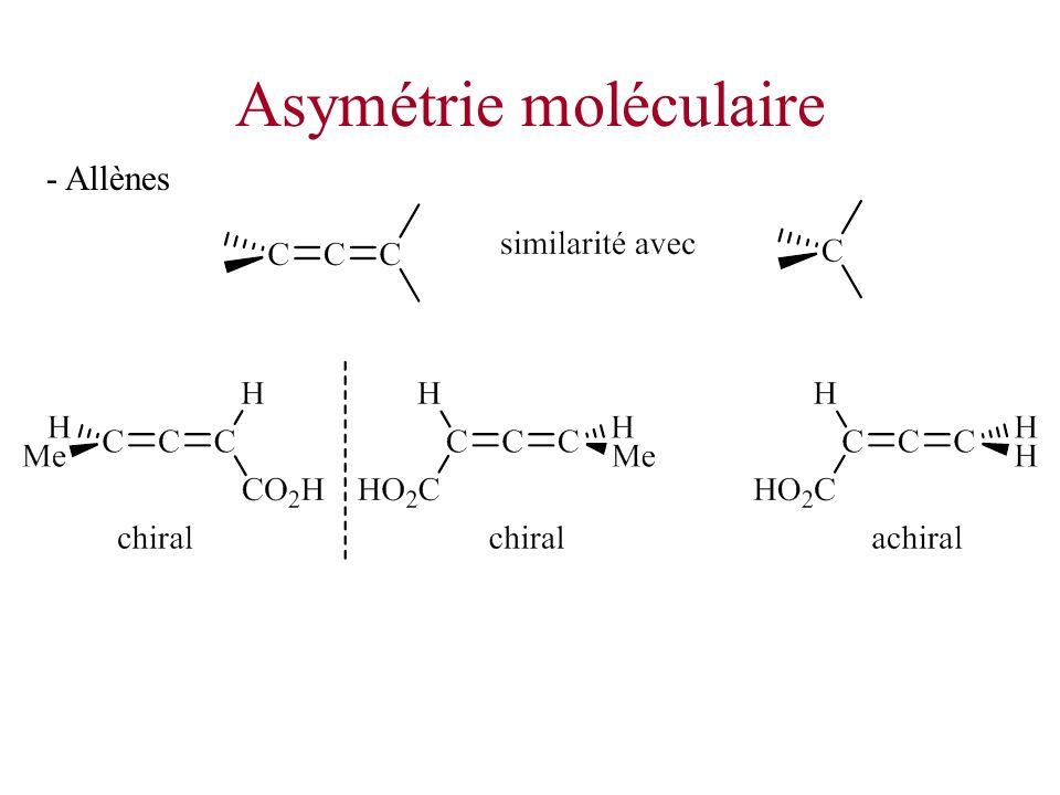 Asymétrie moléculaire - Allènes