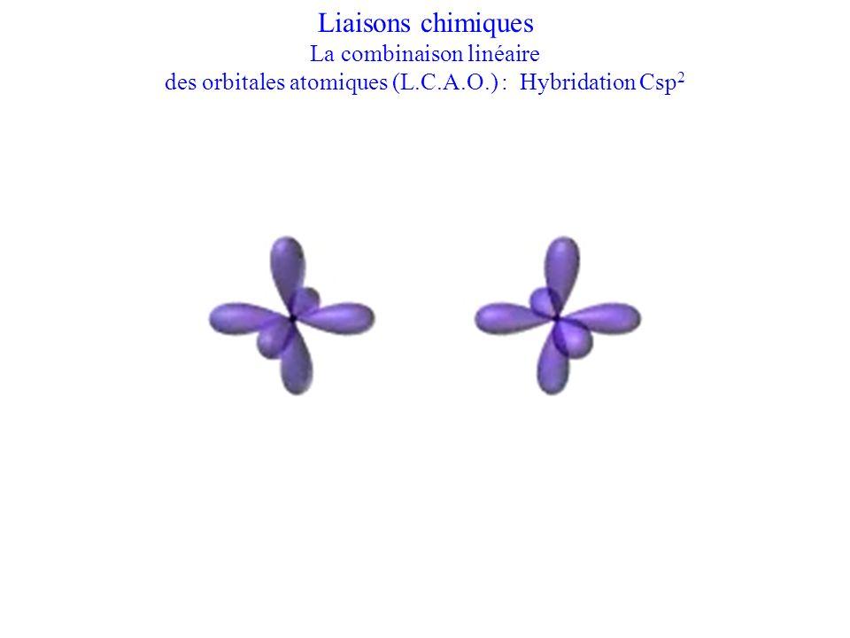 Liaisons chimiques La combinaison linéaire des orbitales atomiques (L.C.A.O.) : Hybridation Csp 2