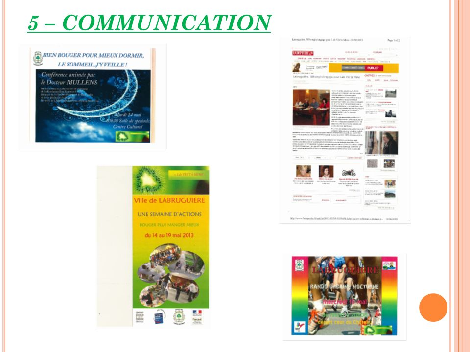 5 – COMMUNICATION