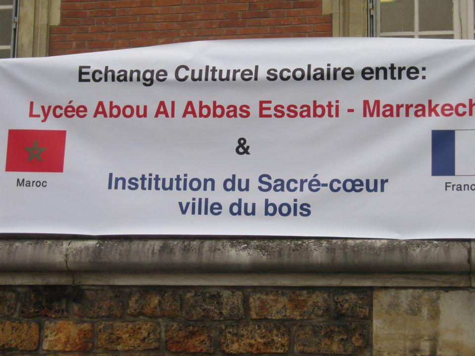 SAMEDI 27 MARS Le samedi 27 mars, les élèves marocains en compagnie de leurs responsables, M.