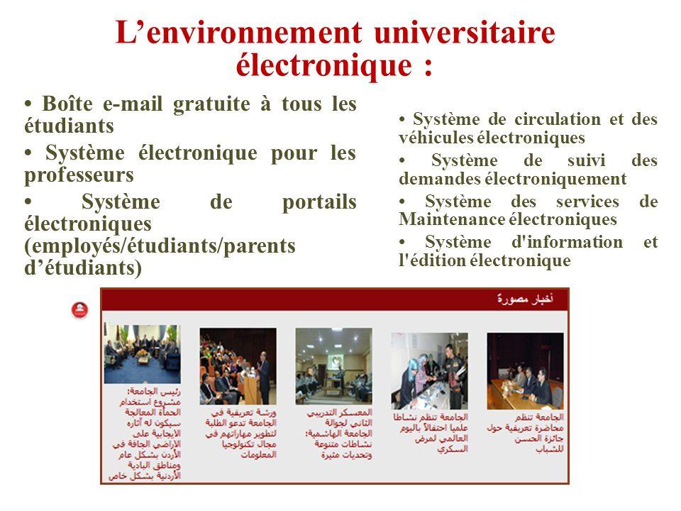 Boîte e-mail gratuite à tous les étudiants Système électronique pour les professeurs Système de portails électroniques (employés/étudiants/parents dét