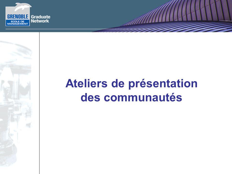 Ateliers de présentation des communautés