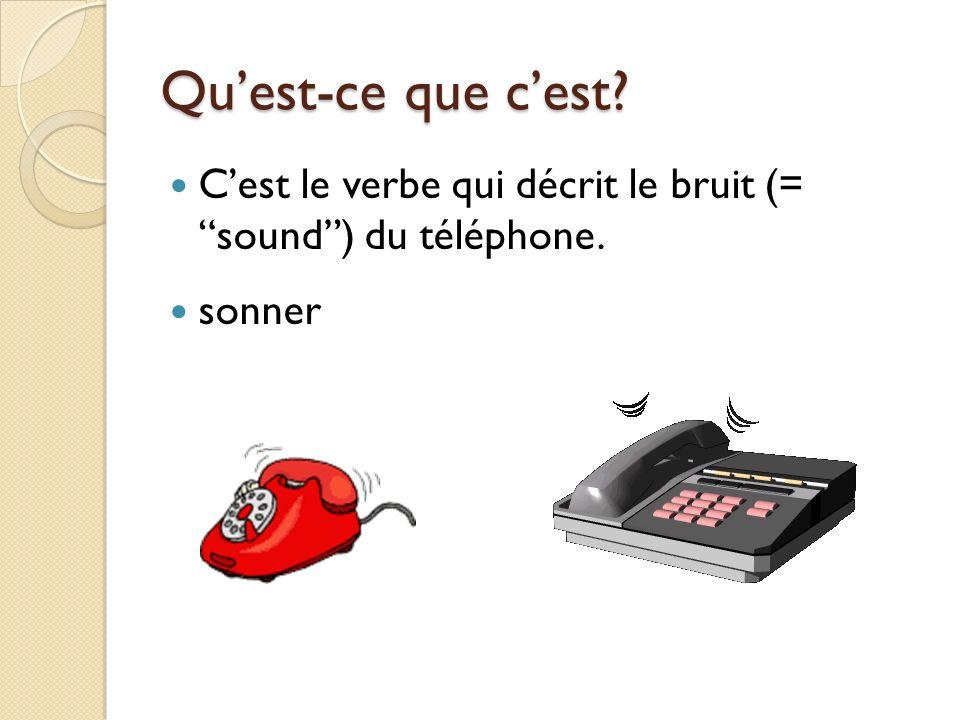Quest-ce que cest Cest un synonyme dun appel – 4 lettres – un __ __ __ __ de téléphone. un coup