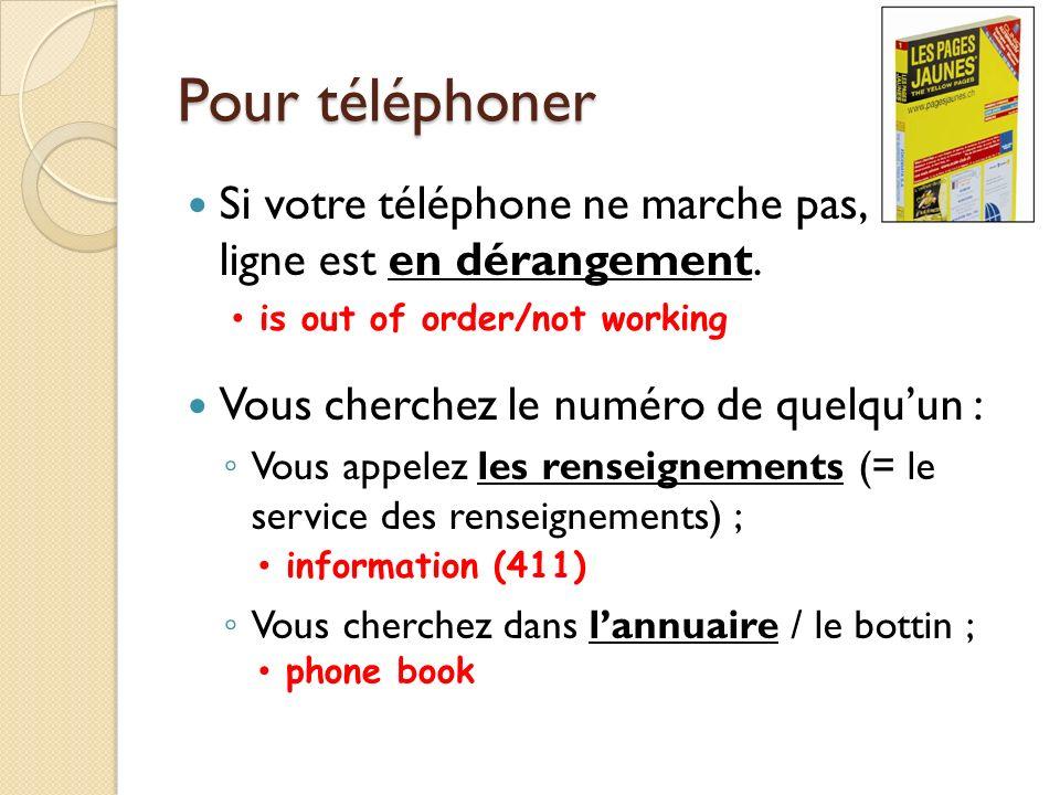 Pour téléphoner On dit téléphoner à quelquun = appeler quelquun = passer un coup de film (ou un coup de téléphone) à quelquun, ou au contraire recevoir (avoir) un coup de fil de quelquun.
