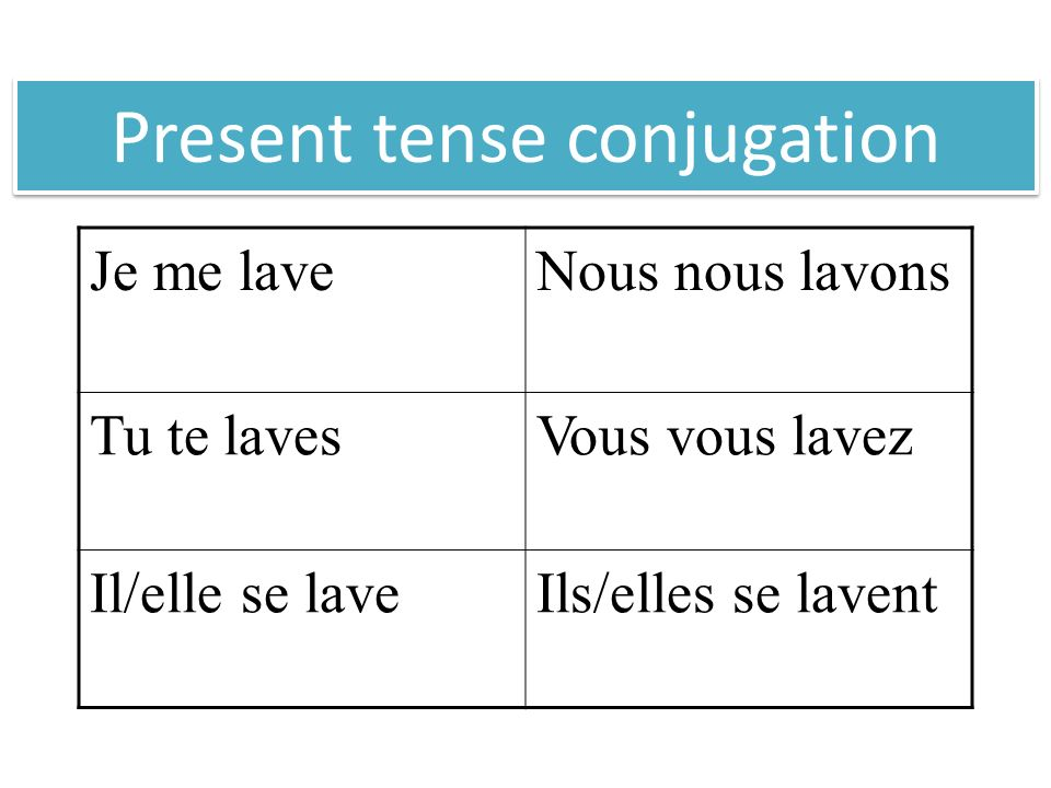 When to use a reflexive verb The action is performed by the subject on itself.