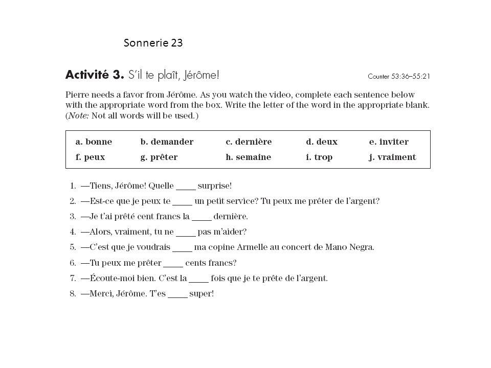 Sonnerie 23