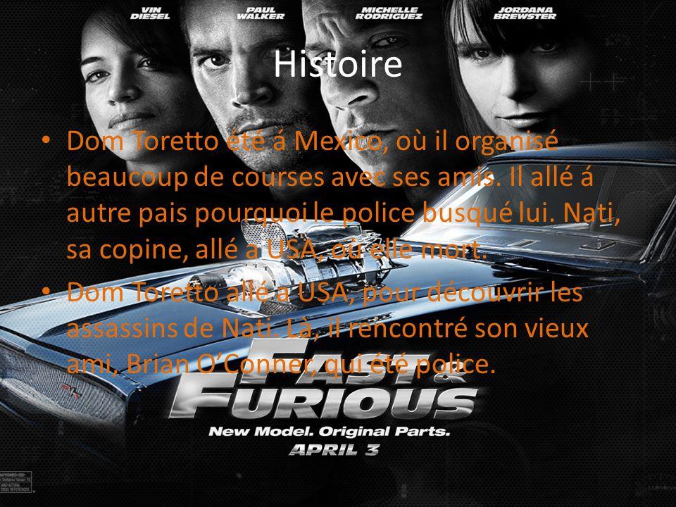 Histoire Dom Toretto été á Mexico, où il organisé beaucoup de courses avec ses amis. Il allé á autre pais pourquoi le police busqué lui. Nati, sa copi