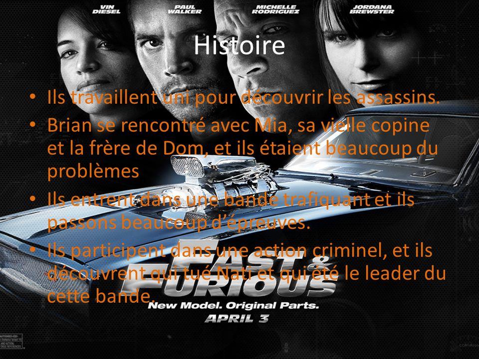 Histoire Ils travaillent uni pour découvrir les assassins. Brian se rencontré avec Mia, sa vielle copine et la frère de Dom, et ils étaient beaucoup d