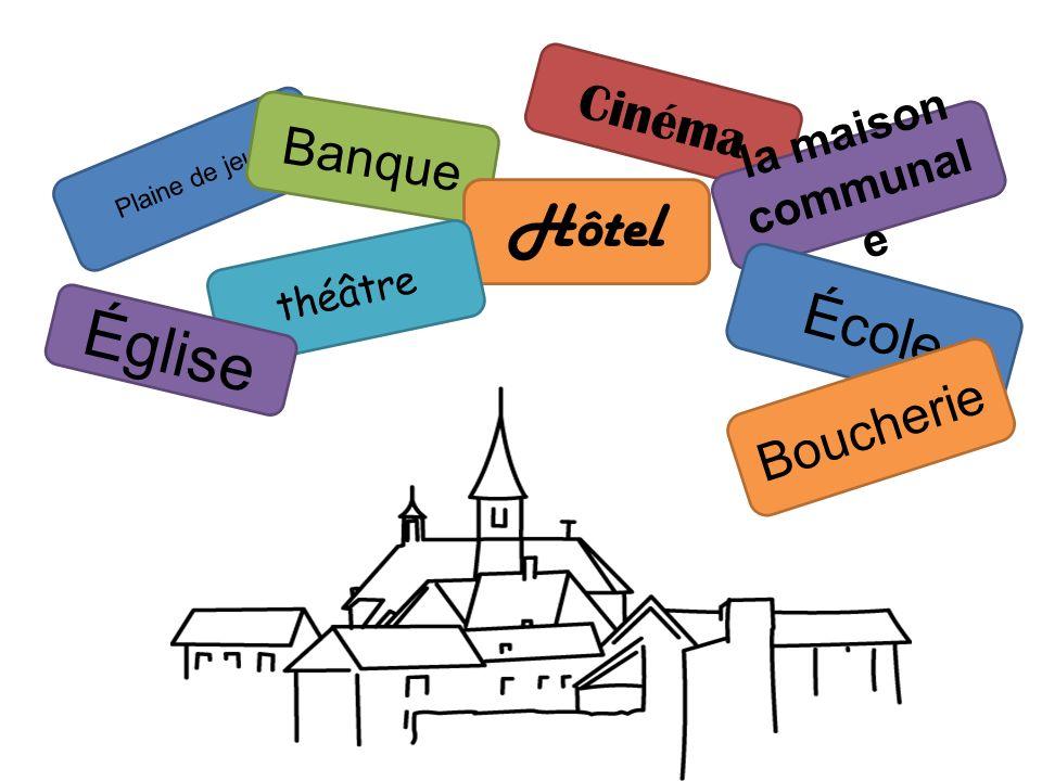 Plaine de jeux Marc devient le bourgmestre Lentrée = (chacun reçoit un passeport) Boulangerie (pâtisserie, sandwich…) Buvette (bar) Garage (entretient