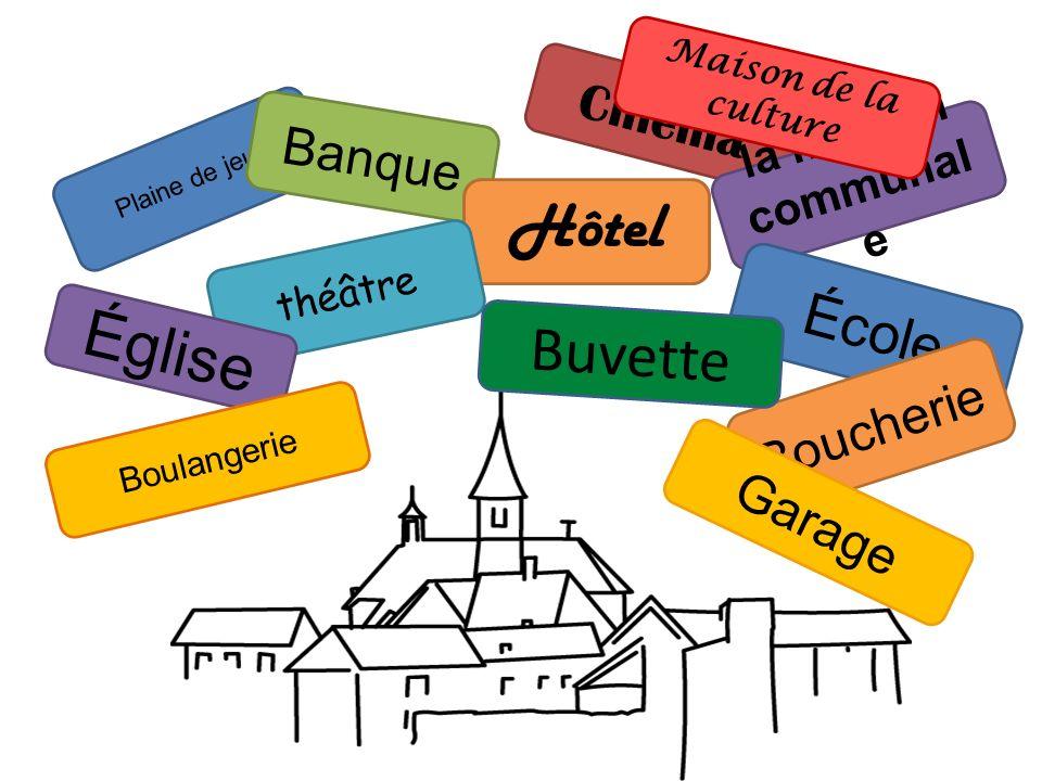 Plaine de jeux Hôtel de ville (entrée = carte de séjour) Théâtre (spectacles, scène ouverte) Cinéma (film éventuel le soir) Bibliothèque (espace déten