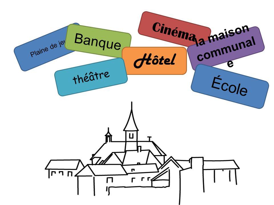 Plaine de jeux Marc devient le bourgmestre Lentrée = (chacun reçoit un passeport) Église (mariage…) Boucherie (hot-dog…) Boulangerie (pâtisserie, sand