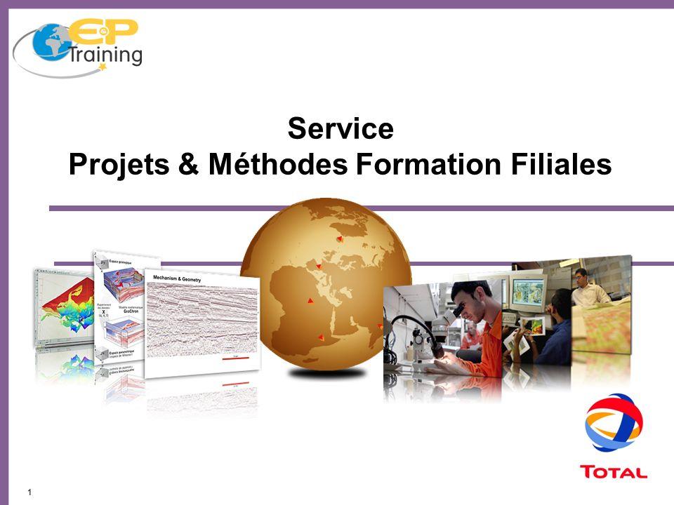12 Trois domaines: Support et Projets Filiales Méthodes, Harmonisation Processus Qualité Au plus près des filiales Méthodes Formation et Support Filiales Une mission: déployer les standards de formation à l´échelle mondiale de l´EP
