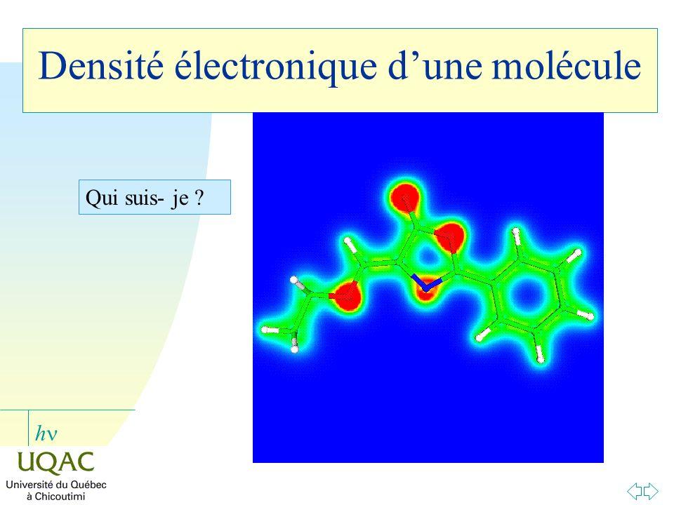 h Densité électronique dune molécule Qui suis- je ?
