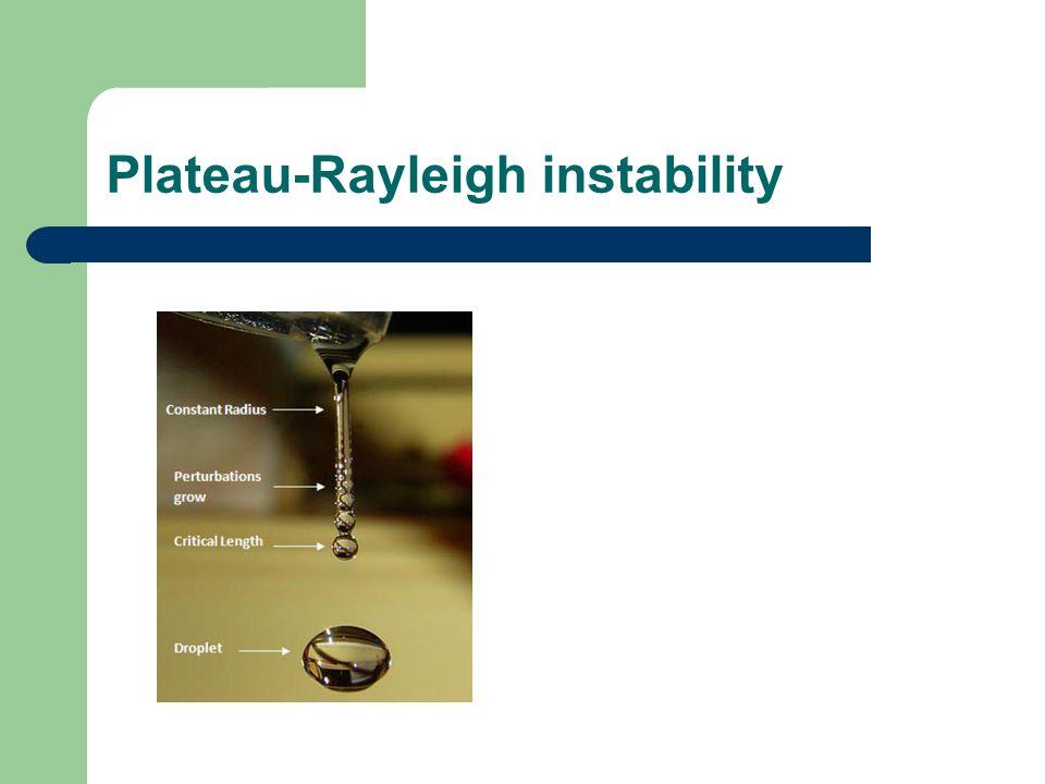 Plateau-Rayleigh instability
