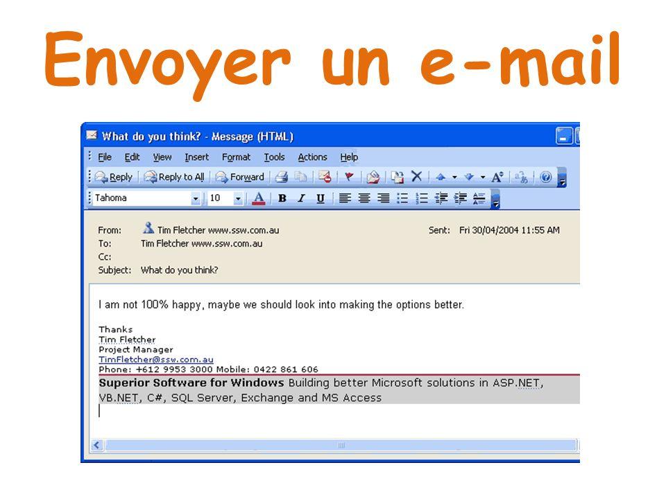 Envoyer un e-mail