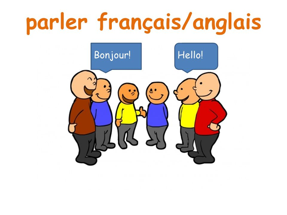 parler français/anglais Bonjour!Hello!