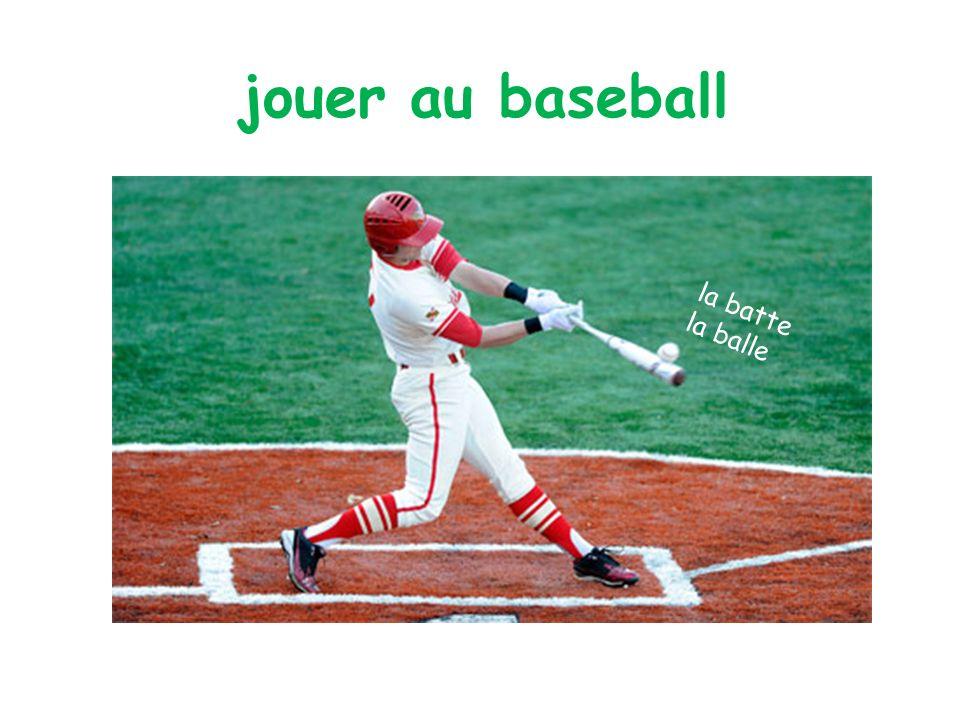 jouer au baseball la batte la balle