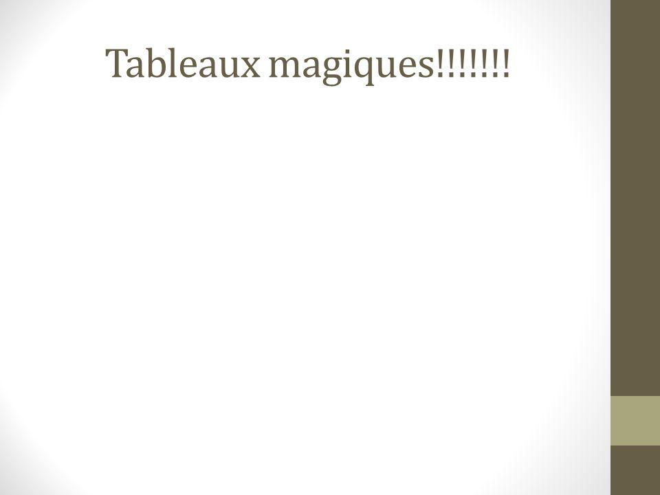 Tableaux magiques!!!!!!!