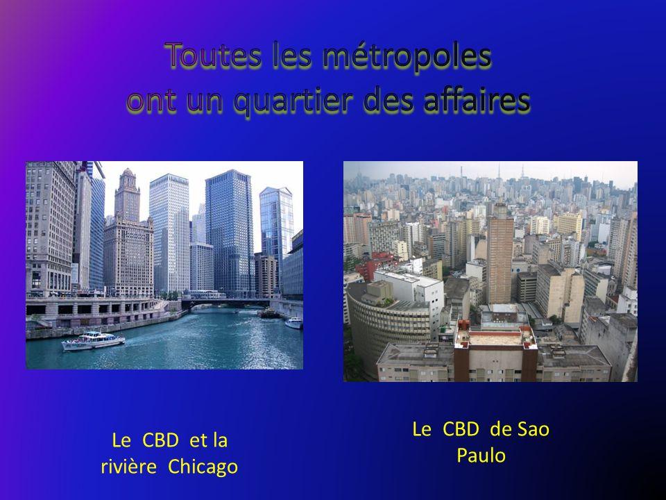 Le CBD de Sao Paulo Le CBD et la rivière Chicago