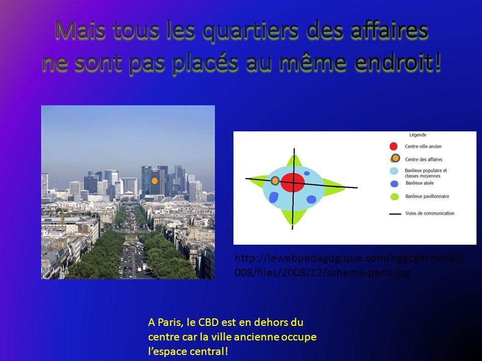 A Paris, le CBD est en dehors du centre car la ville ancienne occupe lespace central! http://lewebpedagogique.com/hgecgerminal2 008/files/2008/12/sche