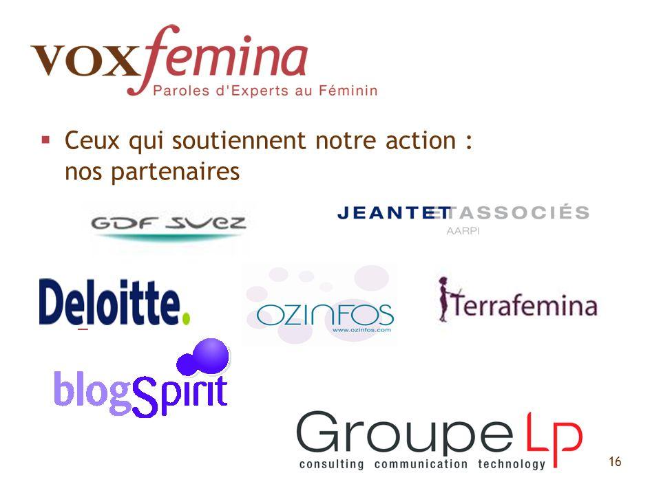 Ceux qui soutiennent notre action : nos partenaires – 16
