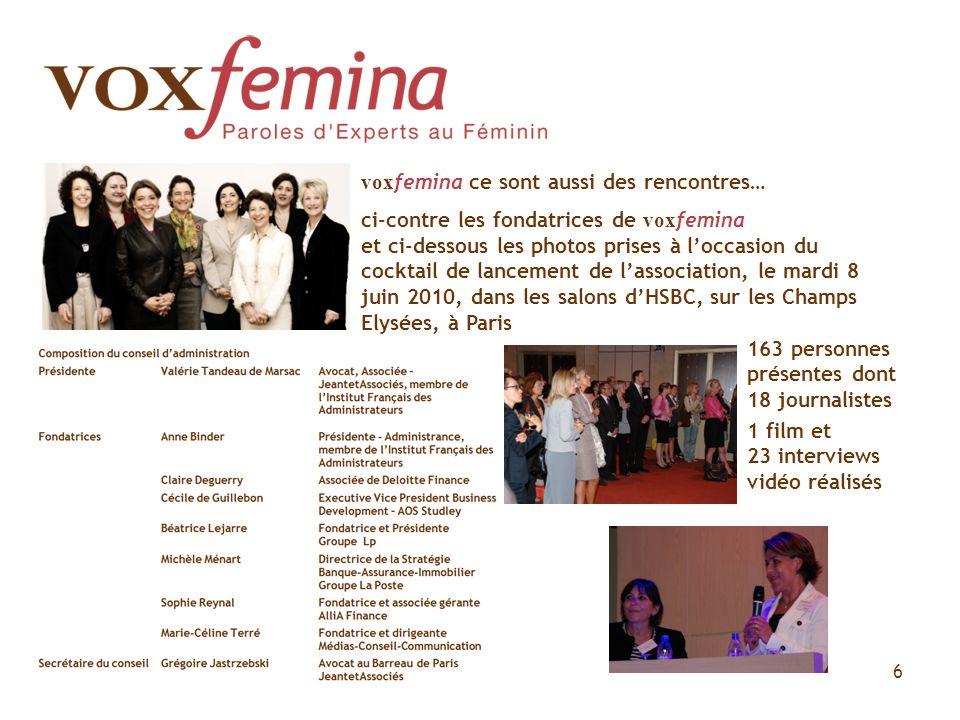 vox femina ce sont aussi des rencontres… ci-contre les fondatrices de vox femina et ci-dessous les photos prises à loccasion du cocktail de lancement