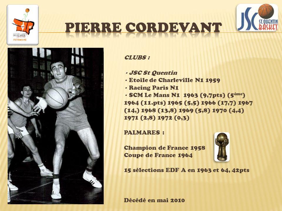 Né en 1979 CLUBS Nogent-sur-Oise 95 JDA Dijon esp ProA 96 97 ProA 98 (5m) 99 (2m) Furman NCAA 00 01 02 03 ASVEL ProA 04 05 (13m) Charleroi (BEL)06 07 AEL Limassol (CHY)08 Chorale Roanne ProA 09 CSP Limoges ProB 10 ProA 11 PALMARES EDF A été 2002 12 sélections A entre 2003 et 2004, 90pts.