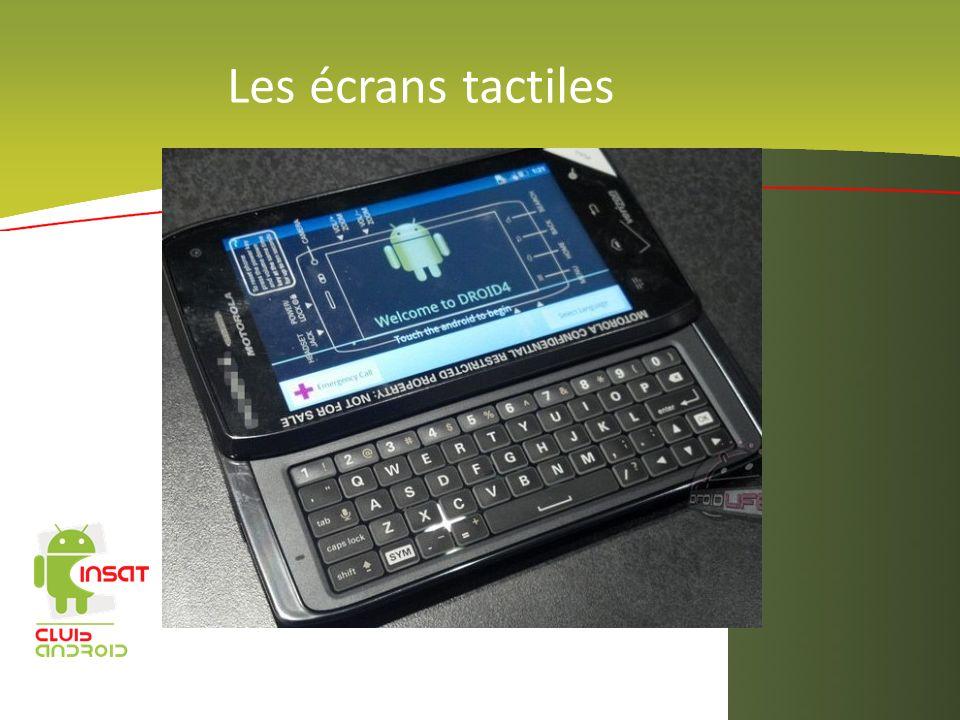 Les écrans tactiles