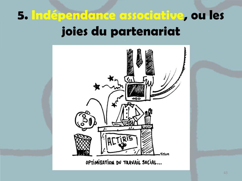 5. Indépendance associative, ou les joies du partenariat 43
