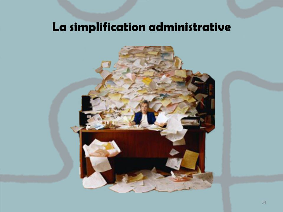 La simplification administrative 54