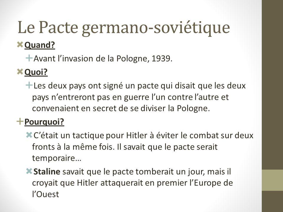 Allies Angleterre France Pologne Canada La division des pays: Pays totalitaires Allemagne Union Soviétique Italie REVISION