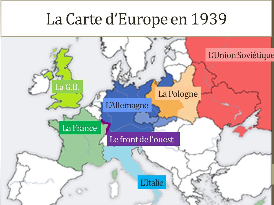 LUnion Soviétique La Pologne LAllemagne La France La G.B.
