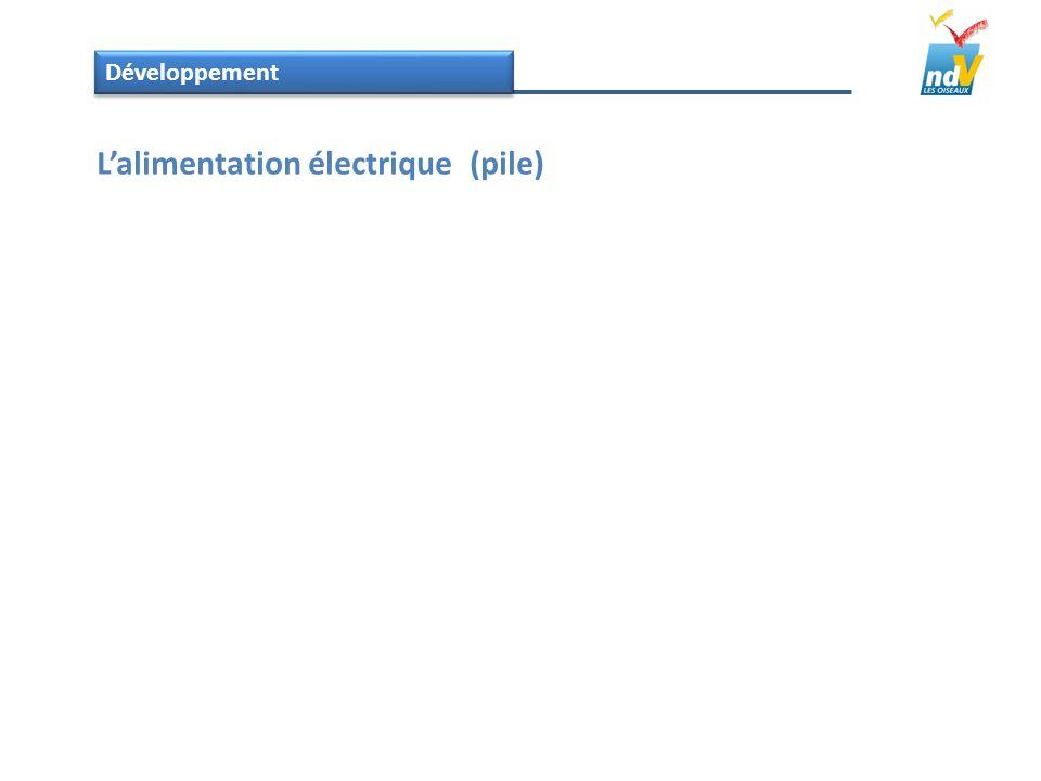 Développement Lalimentation électrique (pile)