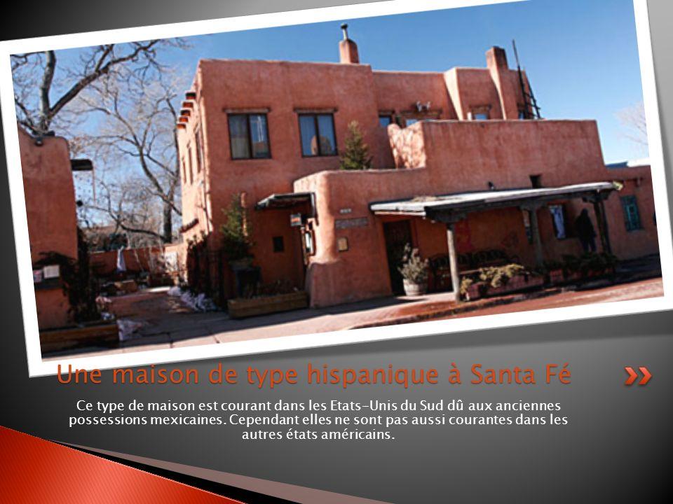 Ce type de maison est courant dans les Etats-Unis du Sud dû aux anciennes possessions mexicaines. Cependant elles ne sont pas aussi courantes dans les