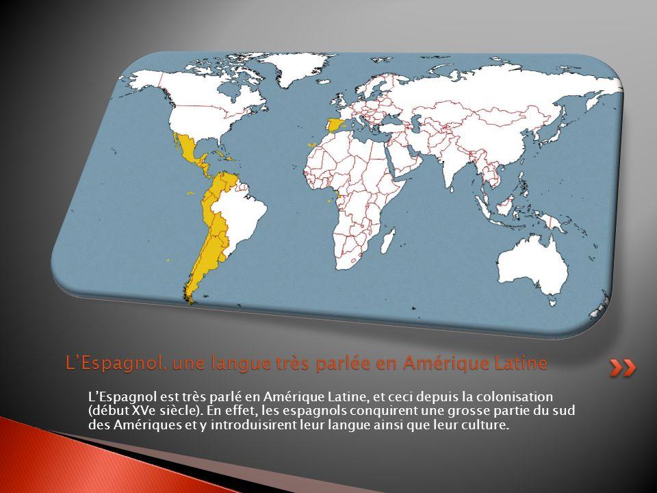 Le Mexique est à la frontière des Etats-Unis dAmérique, et un grand nombre dimmigrants venant du Mexique importent leur culture qui est une culture hispanique et/ou hispanophone.