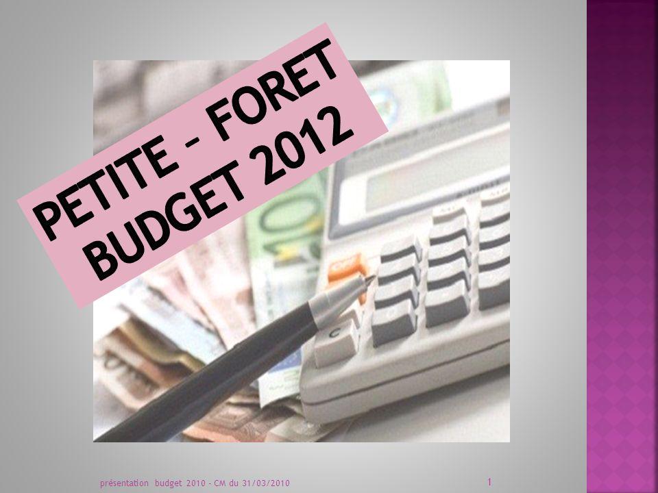 présentation budget 2010 - CM du 31/03/2010 1