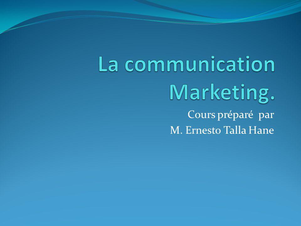 Communications hors média Promotion des ventes Mercatique directe Communication institutionnelle - Relations publiques - Parrainages - Mécénat 12M.Ernesto Talla Hane