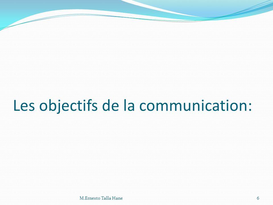 - Faire connaître : le but est de faire connaître lentreprise(communication corporate), ses produits et services( loffre).